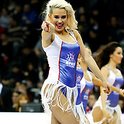 Anadolu Efes's cheerleaders perform during their Turkish Airlines Euroleague Beskatball Top 16 Game 3 Anadolu Efes between Alba Berlin at Abdi Ipekci Arena in Istanbul Turkey on Friday 11 January 2013. Photo by Aykut AKICI/TURKPIX