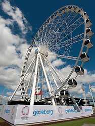 View of new Goteborg Wheel tourist attraction in Gothenburg Sweden