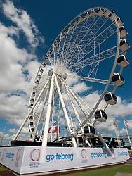 View of new Goteborg Wheel tourist attraction in Gothenburg Sweden