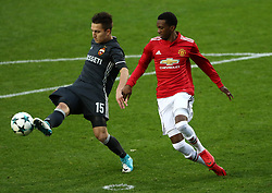 Manchester United's Joshua Bohui (right) and CSKA Moscow's Maksim Eleev battle for the ball