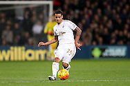 Kyle Naughton of Swansea City passing the ball. Barclays Premier League match, Crystal Palace v Swansea city at Selhurst Park in London on Monday 28th December 2015.<br /> pic by John Patrick Fletcher, Andrew Orchard sports photography.