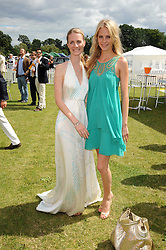Left to right, sisters CHLOE BUCKWORTH and POPPY DELEVIGNE  at the 2008 Veuve Clicquot Gold Cup polo final at Cowdray Park Polo Club, Midhurst, West Sussex on 20th July 2008.<br /> <br /> NON EXCLUSIVE - WORLD RIGHTS
