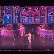 Ballet dancers are seen in a long exposure during a performance of The Nutcracker at the Clay Center for the Arts and Sciences in Charleston on Wednesday, December 07, 2017. The production, with performances scheduled for December 08-09th, is put on by the Charleston Ballet Company with dancers from the Columbia Classical Ballet and the West Virginia Symphony Orchestra