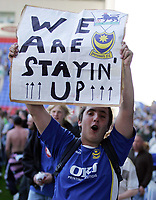Photo: Paul Thomas.<br /> Wigan Athletic v Portsmouth. The Barclays Premiership. 29/04/2006.<br /> <br /> Portsmouth fan.