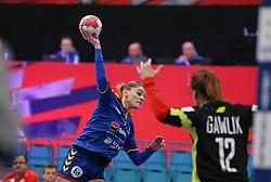 KOLDING, DENMARK - DECEMBER 5: Ana Iuganu during the EHF Euro 2020 Group D match between Poland and Romania in Sydbank Arena, Kolding, Denmark on December 5, 2020. Photo Credit: Allan Jensen/EVENTMEDIA.