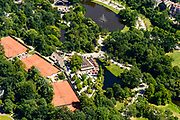 Nederland, Noord-Holland, Amsterdam, 29-06-2018; Amsterdam Oud-Zuid, Vondelpark, uitspanning Groot Melkhuis, Lawn Tennis Club Festina.<br /> <br /> luchtfoto (toeslag op standard tarieven);<br /> aerial photo (additional fee required);<br /> copyright foto/photo Siebe Swart