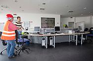Depuratore San Rocco, la sala di controllo dell'impianto.