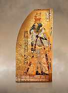 Egyptian painting on stucco of the defied queen Ahmose-Nofretari. 11152-1145BC, Thebes, Grab Nr 359. Neues Reiche Museum, Berlin. Cat No AM2060