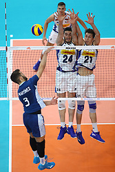 GIULIO PINALI  (ITALIA) E ALBERTO POLO (ITALIA)<br /> ITALIA - ARGENTINA<br /> PALLAVOLO VNL VOLLEYBALL NATIONS LEAGUE 2019<br /> MILANO 22-06-2019<br /> FOTO GALBIATI -  RUBIN