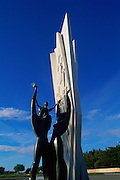 Immigration Statue, Punta Arenas, Region De Magallenes, Patagonia, Chile<br />