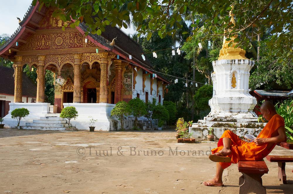 Laos, Province de Luang Prabang, ville de Luang Prabang, Patrimoine mondial de l'UNESCO depuis 1995, temple Vat Pa Phai// Laos, Province of Luang Prabang, city of Luang Prabang, World heritage of UNESCO since 1995, Wat Pa Phai temple