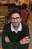 "Italian author David Bez. Author of ""Salad Love"".Photographed at Hatch-Homerton, London. 2015"