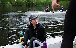 © Licensed to London News Pictures.13/06/15<br /> Durham, England<br /> <br /> A female rower talks to friends during the 182nd Durham Regatta rowing event held on the River Wear. The origins of the regatta date back  to commemorations marking victory at the Battle of Waterloo in 1815. This is the second oldest event of this type in the country and attracts over 2000 competitors from across the country.<br /> <br /> Photo credit : Ian Forsyth/LNP