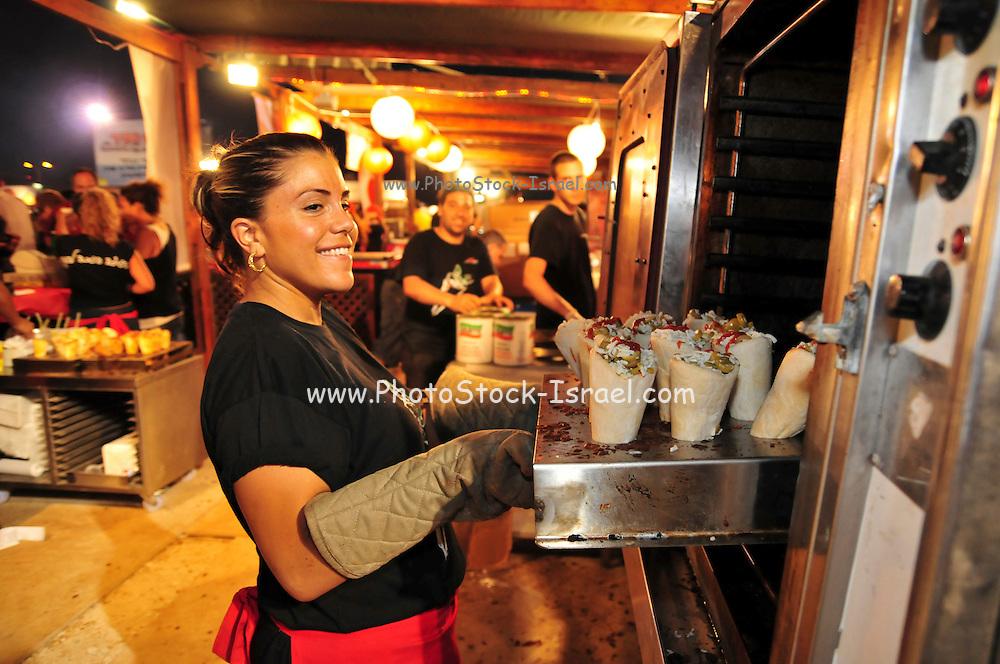 Israel, Haifa, Taam Ha'ir (Taste of the City) food festival, 1 July, 2009,