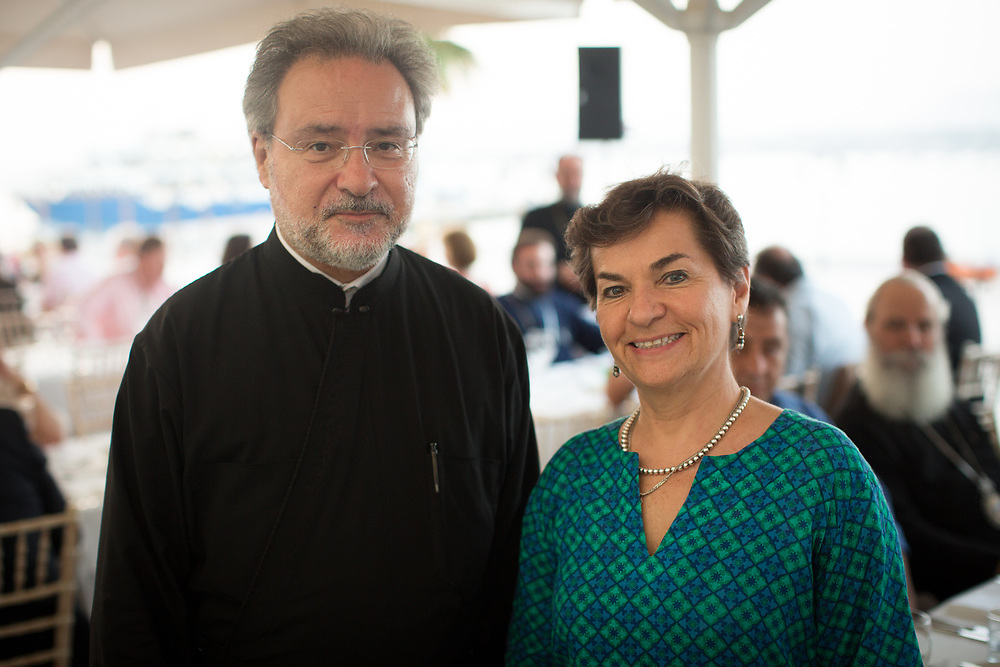 Father John Chryssavgis and Christiana Figueres, global leader on climate change issues and formerly the Executive Secretary of the UN Climate Change Secretariat