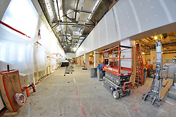 Sterling Memorial Library SML Tech Services Construction Progress. Fifth Photo Submission. First Floor. Fisheye Lens Capture. Date of Photography: 5 March 2013.