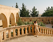 Visit of Dayro d-Mor Hananyo,  an important Syriac Orthodox monastery. The monastery is located in the Syriac cultural region known as Tur Abdin, and is located near Mardin.<br /> It is usually better known by its nickname, the 'Saffron Monastery' which is derived from the warm color of its stone.