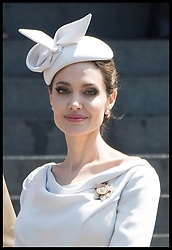 June 28, 2018 - London, United Kingdom - ANGELINA JOLIE leaving a Service of Commemoration and Dedication, marking the 200th Anniversary of the Most Distinguished Order of St Michael and St George at St Paul's Cathedral in London. (Credit Image: © Stephen Lock/i-Images via ZUMA Press)