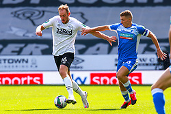 Lewis Hardcastle of Barrow chases down Matt Clarke of Derby County - Mandatory by-line: Ryan Crockett/JMP - 05/09/2020 - FOOTBALL - Pride Park Stadium - Derby, England - Derby County v Barrow - Carabao Cup