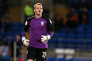 Sheffield Wednesday goalkeeper Cameron Dawson looks on. EFL Skybet championship match, Cardiff city v Sheffield Wednesday at the Cardiff city stadium in Cardiff, South Wales on Wednesday 19th October 2016.<br /> pic by Andrew Orchard, Andrew Orchard sports photography.