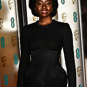 Danai Gurira Arrivers at EE British Academy Film Awards in 2019 after-party dinner at Grosvenor house on 10 Feb 2019.