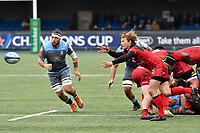Rugby Union - 2018 / 2019 European Rugby Champions Cup - Pool Three: Cardiff Blues vs. Lyon<br /> <br /> Charl McLeod; of Lyon passes the ball out, at Cardiff Arms Park.<br /> <br /> COLORSPORT/WINSTON BYNORTH