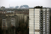 The abandoned town of Prypiat, built less than 5 kilometers from the explosion site an whose objective was to service Chernobyl stations. Because of the high levels of radiation, all 50,000 residents were evacuated from the city the day after the disaster, not having time to gather all their personal belongings.