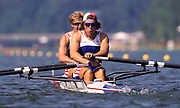 Atlanta, USA. GBR M2X,  Bow Bobby THATCHER  and James CRACKNELL, 1996 Olympic Rowing Regatta Lake Lanier, Georgia [Mandatory Credit Peter Spurrier/ Intersport Images]