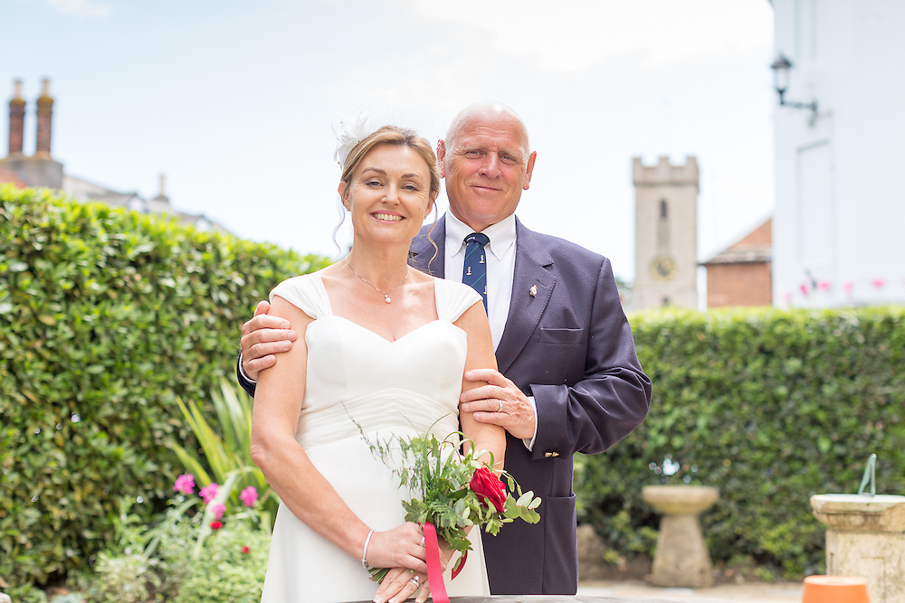 The Wedding of Robert Pakes & Kay Wiggins at the George Hotel, Yarmouth, Isle of Wight, on the 16th June 2015.