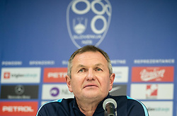 Matjaž Kek, head coach of Slovenia during press conference after the football match between National teams of Slovenia and North Macedonia in Group G of UEFA Euro 2020 qualifications, on March 24, 2019 in SRC Stozice, Ljubljana, Slovenia. Photo by Masa Kraljic / Sportida