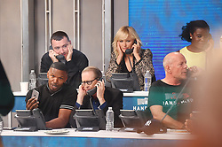 "Celebrities at the ""Hand to hand"" telethon in Times square, New York City. 12 Sep 2017 Pictured: Sam Smith, Jamie Foxx, Steve Buscemi. Photo credit: MEGA TheMegaAgency.com +1 888 505 6342"