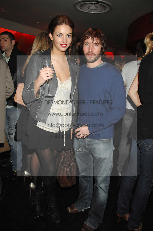 JAMES BLUNT and ROSE HANBURY at a party to celebrate the launch of the Kova & T fashion label and to re-launch the Harvey Nichols Fifth Floor Bar, held at harvey Nichols, Knightsbridge, London on 22nd November 2007.<br /><br />NON EXCLUSIVE - WORLD RIGHTS