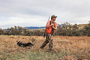 Successful Young Hunter dragging out a Mule Deer Buck