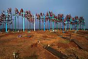 MEXICO, MAYAN, CHIAPAS Romerio graves with giant crosses