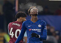 Football - 2019 / 2020 Premier League - Chelsea vs. Aston Villa<br /> <br /> Cold night at the Bridge as Tammy Abraham (Chelsea FC) exhales at Stamford Bridge <br /> <br /> COLORSPORT/DANIEL BEARHAM