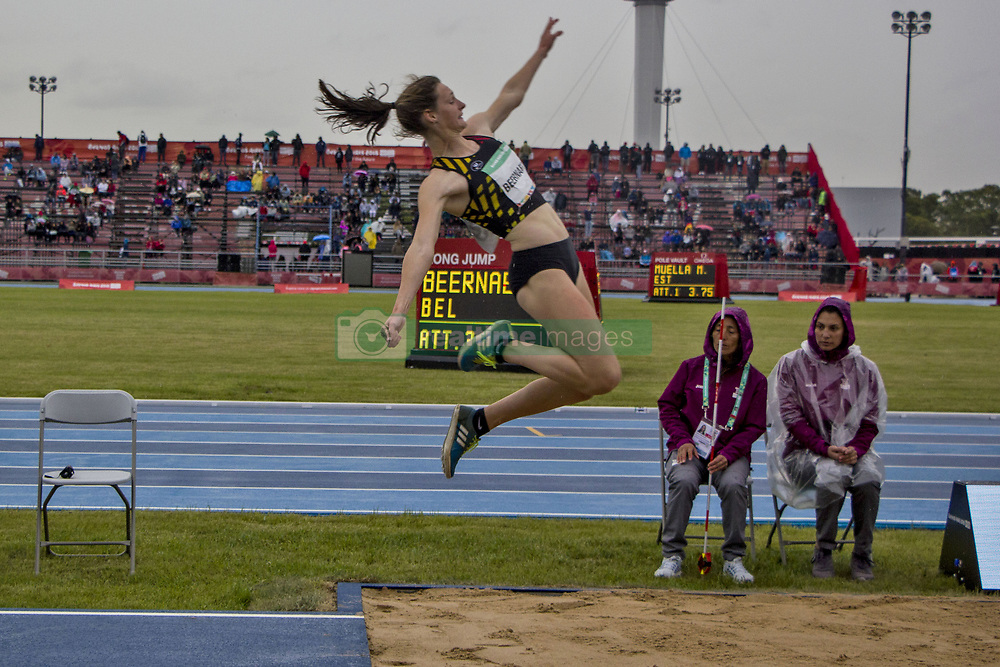 October 11, 2018 - Buenos Aires, Buenos Aires, Argentina - The young Athlete Beernaert Maite of 16 years of the delegation of Belgium debuted this afternoon at the Olympic Youth Games in the discipline of Women's long Jump, Stage 1, remaining in the position number 4. (Credit Image: ©  Roberto Almeida Aveledo/ZUMA Wire)