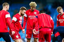 Zak Vyner of Bristol City warms up - Rogan/JMP - 09/01/2018 - Etihad Stadium - Manchester, England - Manchester City v Bristol City - Carabao Cup Semi Final First Leg.