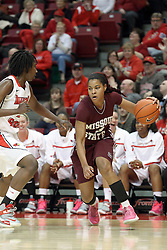03 March 2013:  Desiree Phillips dribbles to pass Candace Sykes during an NCAA Missouri Valley Conference (MVC) women's basketball game between the Missouri State Bears and the Illinois Sate Redbirds at Redbird Arena in Normal IL