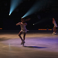 High School Students in  Chautauqua Couty New York playing sports Performers in Excellence on Ice at the Jamestown Savings Bank Arena