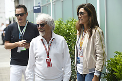 November 9, 2018 - Sao Paulo, Brazil - ECCLESTONE Bernie (gbr), former CEO of Formula One Group, portrait and his wife FLOSI FABIANA during the 2018 Formula One World Championship, Brazil Grand Prix from November 08 to 11 in Sao Paulo, Brazil -  FIA Formula One World Championship 2018, Grand Prix of Brazil World Championship;2018;Grand Prix;Brazil  (Credit Image: © Hoch Zwei via ZUMA Wire)