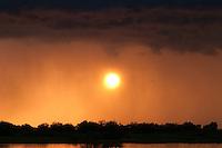 Sunset on the Prypiat river, Belarus