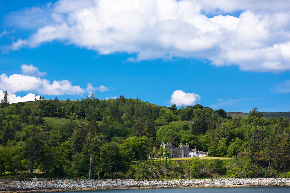 Armadale Castle, ancestral home of the Clan Donald -  MacDonald Scottish clan, on Isle of Skye, the Inner Hebrides and Western Isles in West Coast of Scotland