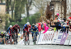 Marko Kump of KK Adria Mobil leading prior to the finish during cycling race 5th Grand Prix Adria Mobil, on April 7, 2019, in Slovenia. Photo by Vid Ponikvar / Sportida
