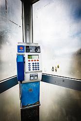 Phone booth, Leenaun, County Galway, Ireland