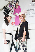 30/07/2015 report free : Winners Announced in Kilkenny Best Dressed Lady, Kilkenny Best Irish Design & Kilkenny Best Hat Competition at Galway Races Ladies Day <br /> Finalists at the event were Siobhan O'Donoghue, Cork and Claire Campbell Dublin.<br /> Photo:Andrew Downes, xposure