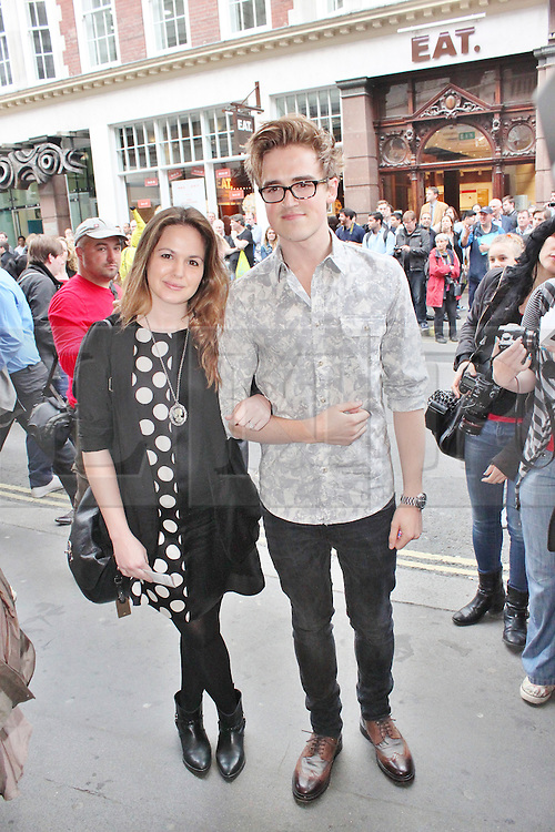 © London News Pictures. 18/06/2013. London, UK. Giovanna Fletcher & Tom Fletcher at The Cripple of Inishmaan - Press Night. Photo credit: Brett D. Cove/LNP