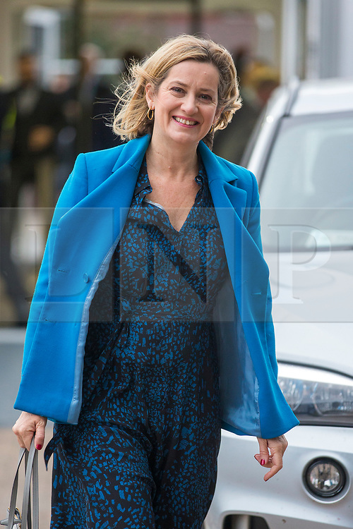 © Licensed to London News Pictures. 02/10/2018. Birmingham, UK. Amber Rudd this morning at the Conservative Party Conference ahead of Boris Johnson's arrival later today. Conservative party conference being held at the International Convention Centre in Birmingham. Photo credit: Andrew McCaren/LNP