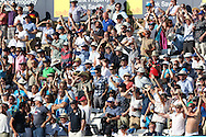 Fans chanting during the third day of the 5th Investec Ashes Test match between England and Australia at The Oval, London, United Kingdom on 22 August 2015. Photo by Ellie Hoad.
