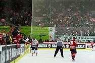01.Mai 2012; Kloten; Eishockey - Schweiz - Kanada; Die Schweizer, mit Damien Brunner, jubeln nach dem 2:2 <br />  (Thomas Oswald)