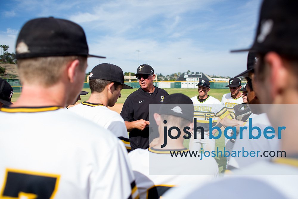 Foothill head coach Vince Brown during a Crestview League game at Foothill High School on Friday, May 5, 2017 in North Tustin, Calif. Foothill won 4-2. (Photo by Josh Barber, Contributing Photographer)